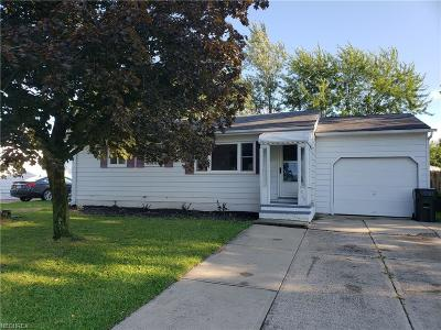Elyria Single Family Home For Sale: 829 Hollywood Dr