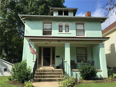 Single Family Home For Sale: 858 McIntire Ave