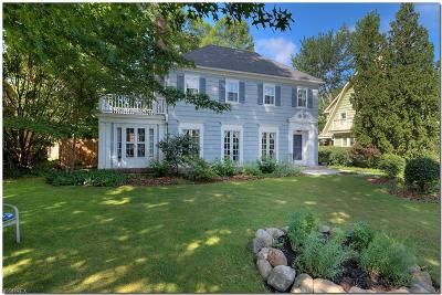 Shaker Heights Single Family Home For Sale: 3132 Warrington Rd