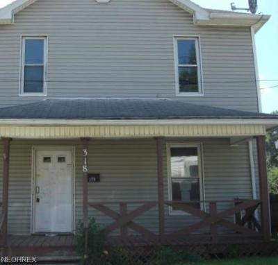 Guernsey County Single Family Home For Sale: 318 South 12th St