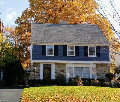 Shaker Heights Single Family Home For Sale: 3607 Traver Rd