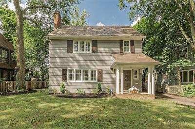 Shaker Heights Single Family Home For Sale: 3164 Chadbourne Rd