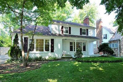 Shaker Heights Single Family Home For Sale: 3722 Tolland Rd