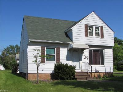 Maple Heights Single Family Home For Sale: 5081 Catherine St