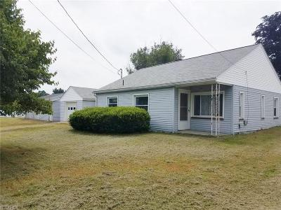 Zanesville Single Family Home For Sale: 3910 Chandlersville Rd