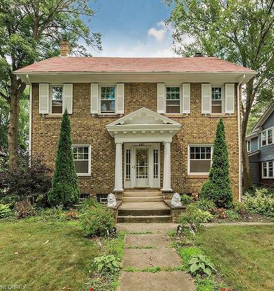 Shaker Heights Single Family Home For Sale: 14429 Drexmore Rd