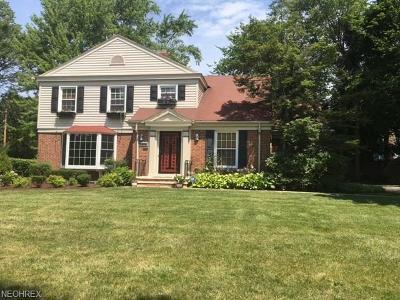Shaker Heights Single Family Home For Sale: 18529 Van Aken Blvd