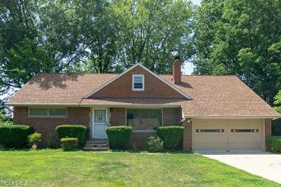 Richmond Heights Single Family Home For Sale: 1846 Sunset Dr