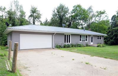 Guernsey County Single Family Home For Sale: 65862 Pisgah Rd