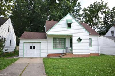 Maple Heights Single Family Home For Sale: 14512 Summit Ave