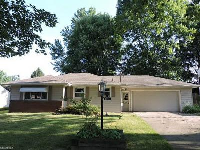 Youngstown OH Single Family Home For Sale: $62,000