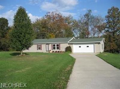 Zanesville Single Family Home For Sale: 6263 Branch Circle Rd
