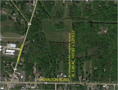 Columbia Station Residential Lots & Land For Sale: Royalton Rd