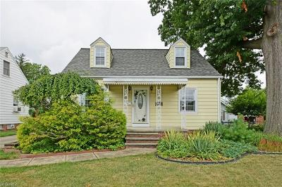 Cleveland Single Family Home For Sale: 3210 Wellington Ave