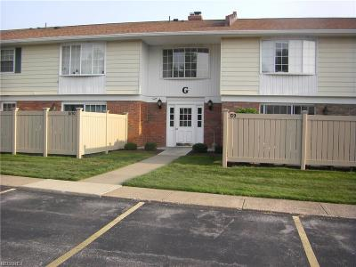 Lake County Condo/Townhouse For Sale: 7970 Mentor Ave #G11