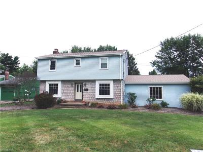 Youngstown Single Family Home For Sale: 3907 Ayrshire Dr