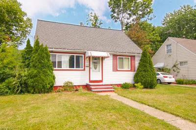 Cleveland OH Single Family Home For Sale: $105,000