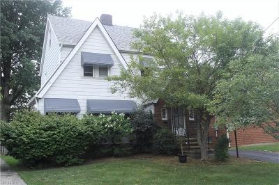 South Euclid Single Family Home For Sale: 1411 Sheffield Rd