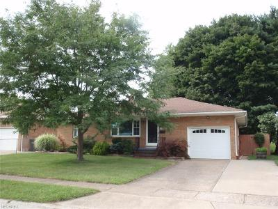 Elyria Single Family Home For Sale: 1172 Bell Ct