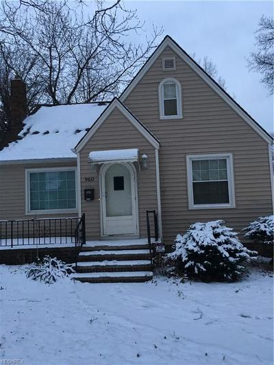 Cleveland Single Family Home For Sale: 960 Woodview Rd