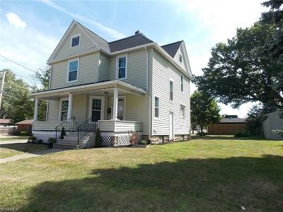 Wadsworth Single Family Home For Sale: 185 North Pardee St