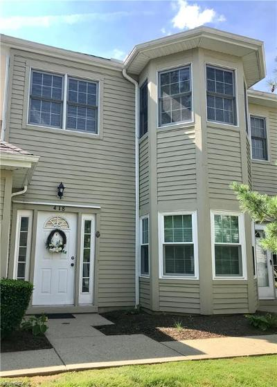 Mayfield Heights Condo/Townhouse For Sale: 418 Eagle Trace