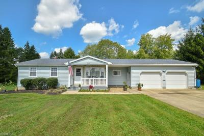 Vienna Single Family Home For Sale: 1062 Niles Vienna Rd