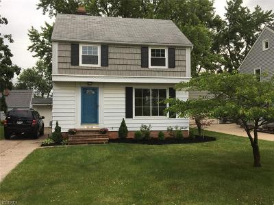 Fairview Park Single Family Home For Sale: 20810 Eastwood Ave