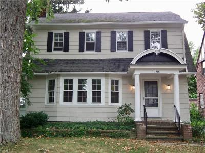 Shaker Heights Single Family Home For Sale: 3355 Avalon Rd