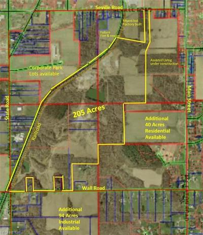 Wadsworth OH Residential Lots & Land For Sale: $3,300,000