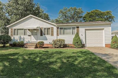 Wickliffe Single Family Home For Sale: 1854 Eldon Dr
