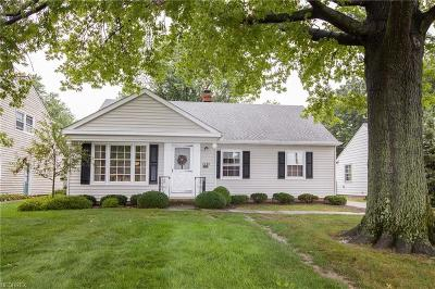 Fairview Park Single Family Home For Sale: 4300 West 202nd St