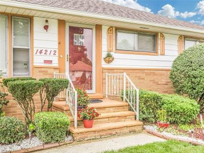 Maple Heights Single Family Home For Sale: 14212 Wheeler Rd