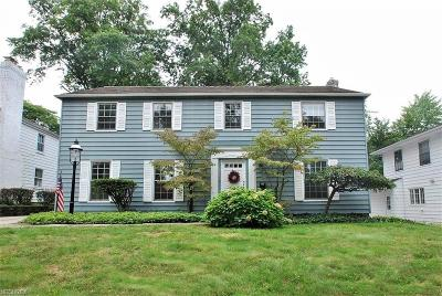 Shaker Heights Single Family Home For Sale: 22626 Rye Rd