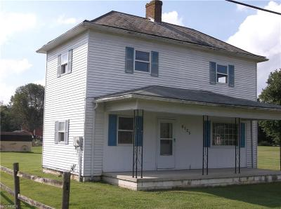 Roseville OH Single Family Home For Sale: $52,900