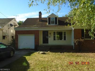 Maple Heights Single Family Home For Sale: 15004 James Ave