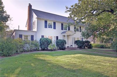 Shaker Heights Single Family Home For Sale: 2960 Claremont Rd