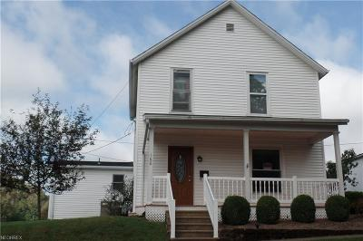 McConnelsville Single Family Home For Sale: 160 North 3rd St