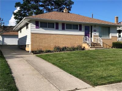 Maple Heights Single Family Home For Sale: 15305 Rowena Ave