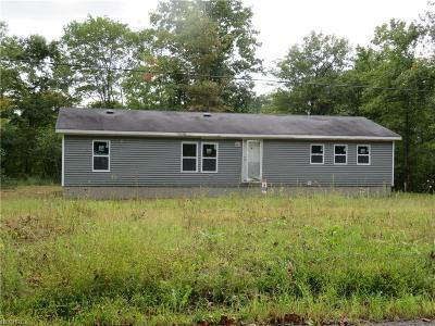 Philo OH Single Family Home For Sale: $60,000