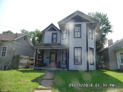 Zanesville OH Single Family Home For Sale: $38,500