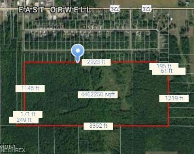 Orwell Residential Lots & Land For Sale: E St Rt 322 Street