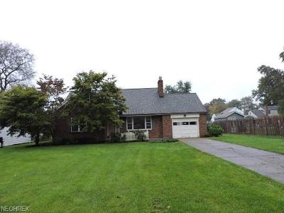 Youngstown OH Single Family Home For Sale: $73,500
