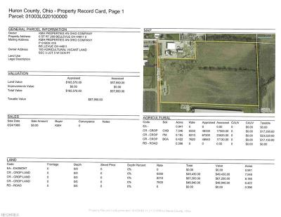 Huron County Residential Lots & Land For Sale: 23.49 Ac V/L State Route 269