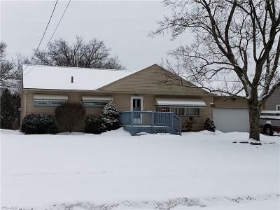 Youngstown Single Family Home For Sale: 2821 Brunswick Rd