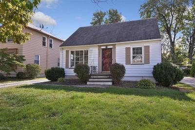 Fairview Park Single Family Home For Sale: 20893 Belvidere Ave