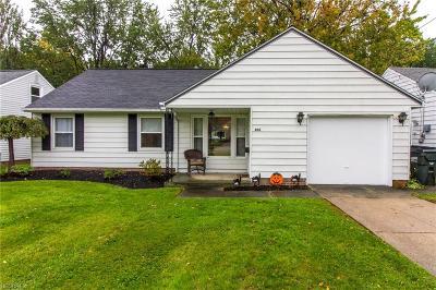 Willowick Single Family Home For Sale: 406 Bayridge Blvd