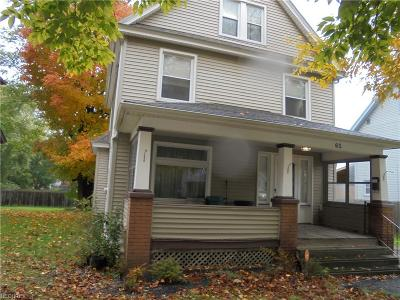 Struthers Single Family Home For Sale: 65 Walnut St