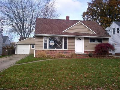 Willowick Single Family Home For Sale: 30209 Thomas St