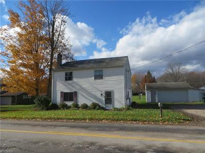 Ashtabula County Single Family Home For Sale: 2312 Brown Rd